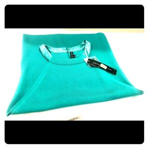 NWT Antonio Melani Turquoise Sleeveless Sweater